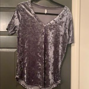 Crushed velvet t shirt